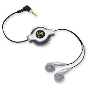RETRAK  RETRACKABLE  STERO EARBUDS  SILVER