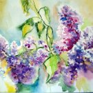 Original watercolor painting, Lilac flowers, botanical art, artwork, floral wall art, wall decor