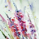 Original watercolor painting, flowers, floral wall art, botanical art, nature art, wild flowers