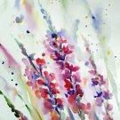 Original watercolor painting, flowers, floral wall art, botanical art, nature art, wild flowers