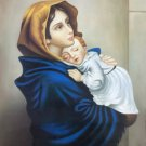 "Hand painted oil painting on canvas""Blessed Virgin and son""50x70CM(19.7""x27.6"")Unframed-02"