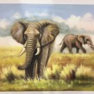 "Simple modern Hand painted oil painting on canvas""Elephant""60x90CM  (23.6""x35.4"")Unframed-01"