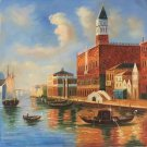 "European style Hand painted oil painting on canvas""Venice""80x80CM(31.5x31.5inch)Unframed-01"