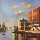 "European style Hand painted oil painting on canvas""Venice""80x80CM(31.5x31.5inch)Unframed-02"
