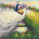 """Simple modern Hand painted oil painting on canvas""""Gorgeous peacock""""60x120CM(23.6""""x47.2"""")Unframed-08"""