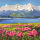 """American style Hand painted oil painting on canvas""""Shangri-La""""70x180CM(27.6""""x70.9"""")Unframed-05"""