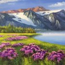 """American style Hand painted oil painting on canvas""""Shangri-La""""70x180CM(27.6""""x70.9"""")Unframed-10"""