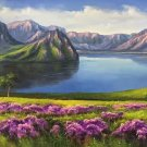 """American style Hand painted oil painting on canvas""""Shangri-La""""70x180CM(27.6""""x70.9"""")Unframed-11"""