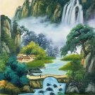 "Chinese style Hand painted oil painting on canvas""Natural color""60x120CM(23.6""x47.2"")Unframed-14"