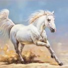 "Simple modern Hand painted oil painting on canvas""Akhal-teke horses""60x90CM(23.6""x35.4"")Unframed-08"