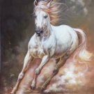 """Simple modern Hand painted oil painting on canvas""""Akhal-teke horses""""60x90CM(23.6""""x35.4"""")Unframed-09"""