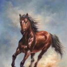 """Simple modern Hand painted oil painting on canvas""""Akhal-teke horses""""60x90CM(23.6""""x35.4"""")Unframed-10"""