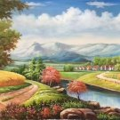 "American style Hand painted oil painting on canvas""Creek""60x120CM(23.6""x47.2"")Unframed-20"