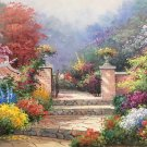 "American style Hand painted oil painting on canvas""Private garden""60x90CM(23.6""x35.4"")Unframed-02"