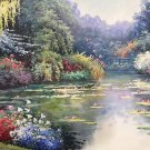 """American style Hand painted oil painting on canvas""""Private garden""""60x90CM(23.6""""x35.4"""")Unframed-03"""