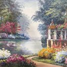 "American style Hand painted oil painting on canvas""Private garden""60x90CM(23.6""x35.4"")Unframed-07"