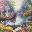 "American style Hand painted oil painting on canvas""Private garden""60x90CM(23.6""x35.4"")Unframed-08"