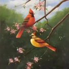 "Simple modern Hand painted oil painting on canvas""Cute bird""50x60CM(19.7""x23.6"")Unframed-03"