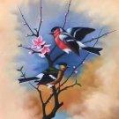 "Simple modern Hand painted oil painting on canvas""Cute bird""50x60CM(19.7""x23.6"")Unframed-07"
