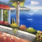 "Hand painted oil painting on canvas""Sea view Villa""50x60CM(19.7""x23.6"")Unframed-28"
