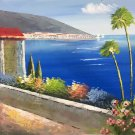 """Hand painted oil painting on canvas""""Sea view Villa""""50x60CM(19.7""""x23.6"""")Unframed-29"""