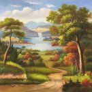 "Hand painted oil painting on canvas""Image of the countryside""50x60CM(19.7""x23.6"")Unframed-03"