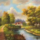 "Hand painted oil painting on canvas""Image of the countryside""50x60CM(19.7""x23.6"")Unframed-04"