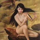 "Chinese style Hand painted oil painting on canvas""nude woman""60x90CM  (23.6""x35.4"")Unframed-01"