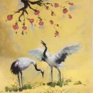 "Chinese style Hand painted oil painting on canvas""Red-crowned crane""50x60CM(19.7""x23.6"")Unframed-03"