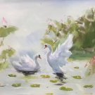 """Chinese style Hand painted oil painting on canvas""""swan""""50x60CM(19.7""""x23.6"""")Unframed-03"""