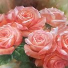 "American style Hand painted oil painting on canvas""Lover roses""60x90CM(23.6""x35.4"")Unframed-01"