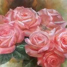"""American style Hand painted oil painting on canvas""""Lover roses""""60x90CM(23.6""""x35.4"""")Unframed-06"""