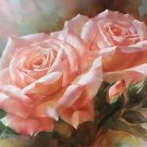 "American style Hand painted oil painting on canvas""Lover roses""60x90CM(23.6""x35.4"")Unframed-07"