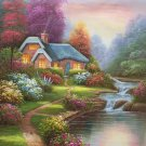 """European style Hand-painted oil painting on canvas""""mind home""""50x60CM(19.7""""x23.6"""")Unframed-03"""