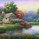 """European style Hand-painted oil painting on canvas""""mind home""""70x180CM(27.6""""x70.9"""")Unframed-07"""