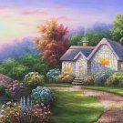 "European style Hand-painted oil painting on canvas""mind home""70x180CM(27.6""x70.9"")Unframed-09"