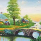 """European style Hand-painted oil painting on canvas""""mind home""""70x180CM(27.6""""x70.9"""")Unframed-11"""