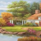 "European style Hand-painted oil painting on canvas""mind home""70x180CM(27.6""x70.9"")Unframed-13"