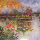 """American style Hand painted oil painting on canvas""""Private garden""""70x180CM(27.6""""x70.9"""")Unframed-11"""