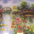 """American style Hand painted oil painting on canvas""""Private garden""""70x180CM(27.6""""x70.9"""")Unframed-12"""