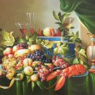 """Simple modern Hand painted oil painting on canvas""""harvest fruits""""60x90CM(23.6""""x35.4"""")Unframed-32"""