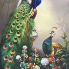 "Simple modern Hand painted oil painting on canvas""Gorgeous peacock""70x180CM(27.6""x70.9"")Unframed-10"