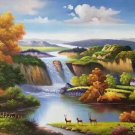 "American style Hand painted oil painting on canvas""Creek""70x180CM(27.6""x70.9"")Unframed-28"
