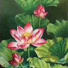 "hinese style Hand painted oil painting on canvas""lotus""60x120CM(23.6""x47.2"")Unframed-02"