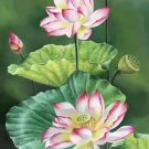 "hinese style Hand painted oil painting on canvas""lotus""60x120CM(23.6""x47.2"")Unframed-03"