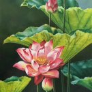 "hinese style Hand painted oil painting on canvas""lotus""60x120CM(23.6""x47.2"")Unframed-04"