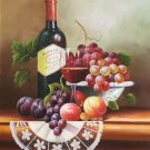 "handpainted oil painting on canvas Art Decor""Grape wine""50x60CM(19.7""x23.6"")Unframed-40"