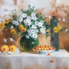 """Simple modern Hand painted oil painting on canvas""""Flowers""""75x100CM(29.5""""x39.4"""")Unframed-19"""