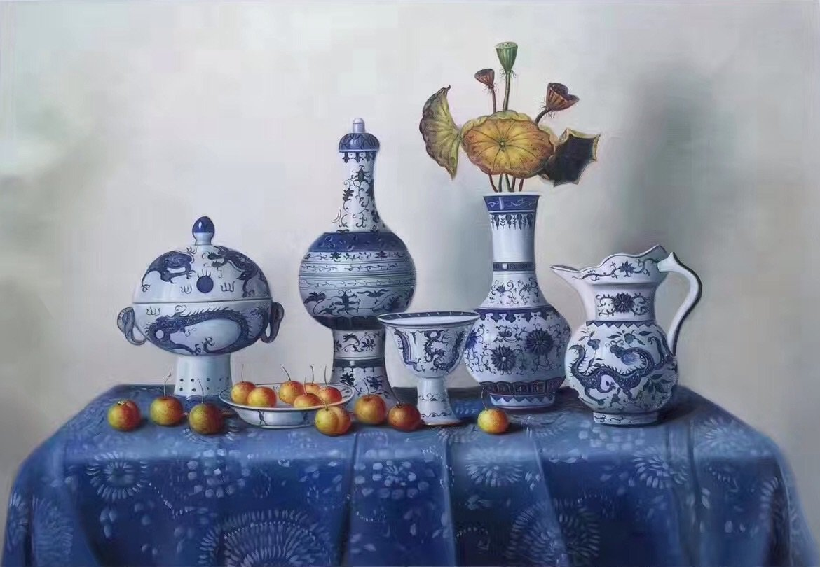 """Simple modern Hand painted oil painting on canvas""""ceramics""""60x90CM(23.6""""x35.4"""")Unframed-01"""