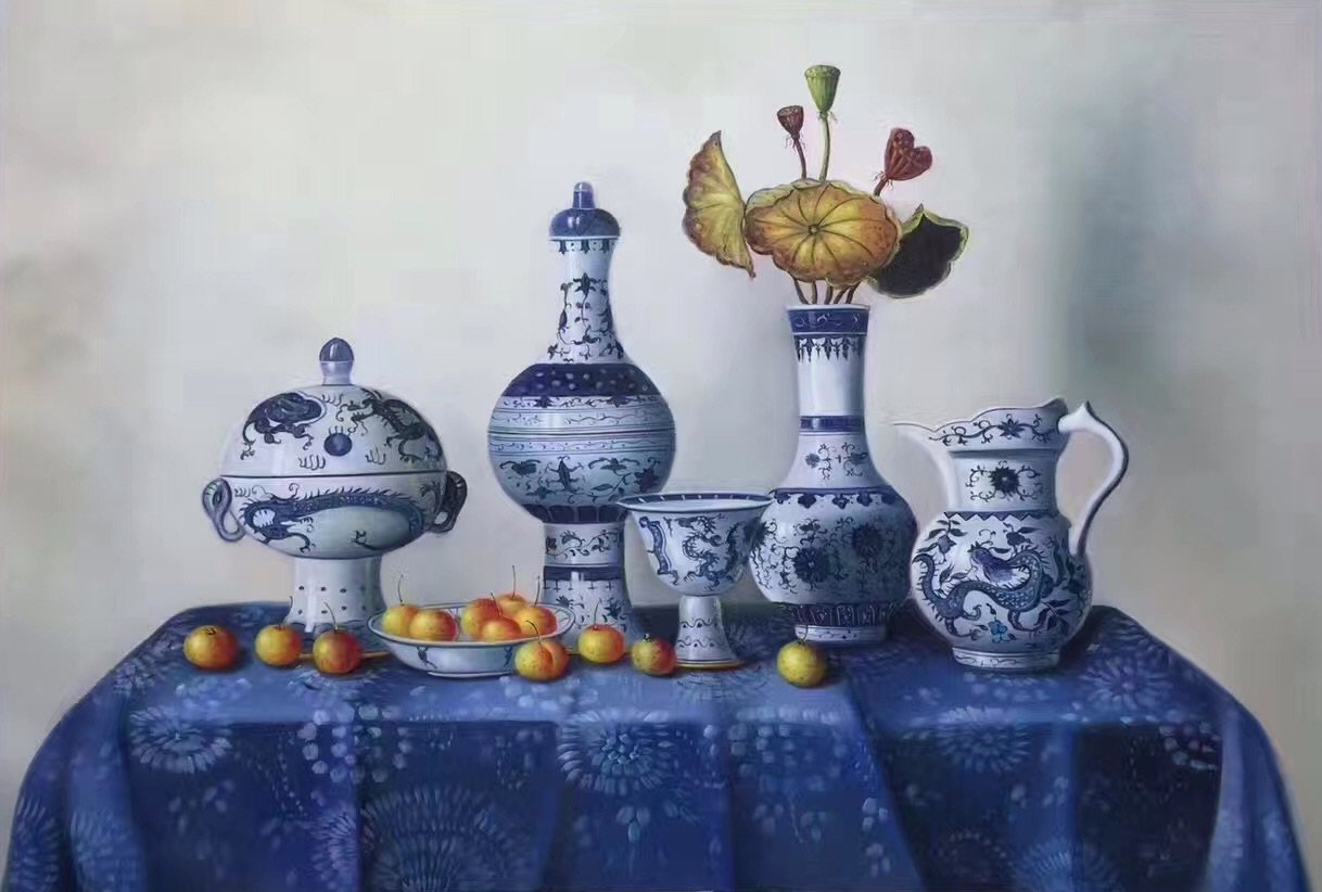 """Simple modern Hand painted oil painting on canvas""""ceramics""""60x90CM(23.6""""x35.4"""")Unframed-04"""